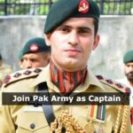 Join Pak Army as Captain through Direct Short Service Commission 2021