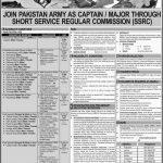 Join Pak Army as Captain | Major through Short Service Regular Commission (SSRC)