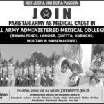 Join Pak Army as Medical Cadet 2021 - Online Registration