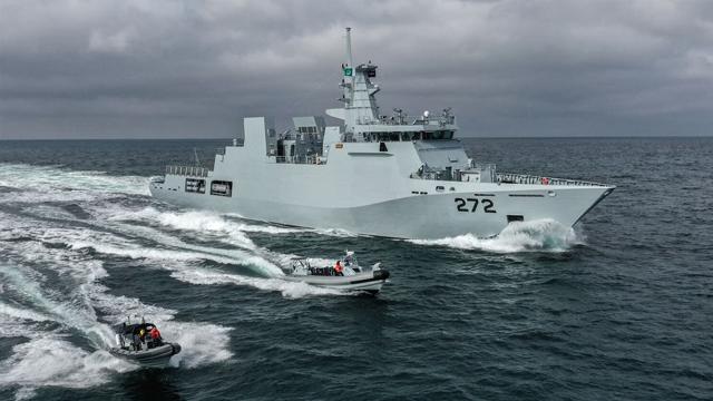 Pakistan Navy ships deployed in the Arabian Sea, near Oman