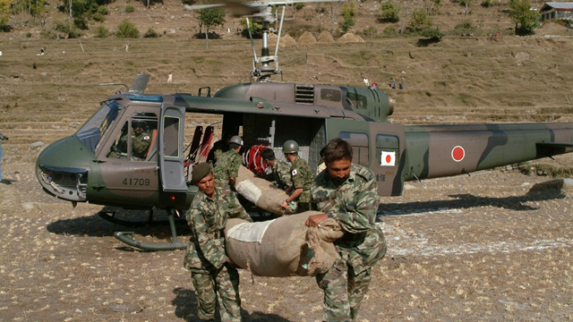 Pakistan military troops in relief efforts missions in 2005