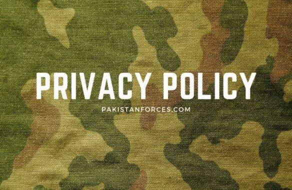 Pakistan Forces Privacy Policy